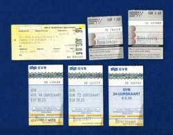 LOTE - Ferrocarril (6 Billetes) Holanda - Billetes De Transporte