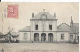CPA. 44. COUERON. La Mairie Et L'école. CLC édit. écrite. 1906. - France