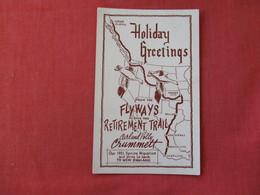 Flyways Retirement Trail Map Carl & Polly Crummett  Boston Mass.   -ref 2873 - Postcards