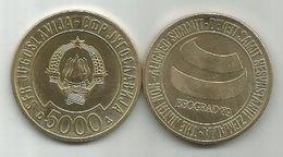 Yugoslavia 5000 Dinara 1989.UNC IX Summit Non-aligned Belgrade KM#135 - Yougoslavie