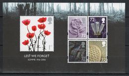 GB 2006 Mini Sheet Celebrating Lest We Forget 1st Issue Unmounted Mint Condition. - Blocks & Miniature Sheets