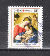 Francia   -   2002. Pro Croce Rossa. Madonna Con Bimbo. Pro Red Cross. Madonna With Child.Painting - Croce Rossa