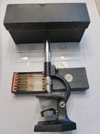 Microscope De Poche Cady N°2, Ancien, Grossissement Linéaire 115 Fois. TBE - Bronze Verni Noir - Technical
