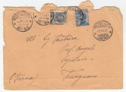 Italy, Letter Cover Travelled 1921 Trevignano Pmk B180301 - 1900-44 Vittorio Emanuele III