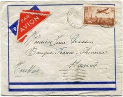 FRANCE LETTRE PAR AVION DEPART ST MAIGRIN 27-8-36 POUR LE TONKIN - 1927-1959 Briefe & Dokumente