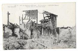 Cpa: 51 SOUAIN (ar. Châlons Sur Marne) Tombes Dans La Cour D'une Ferme N° 467 (plan Rare) - Souain-Perthes-lès-Hurlus