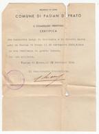 Italy, Birth Certificate? From Comune Di Pasian Di Prato 1944 B180301 - Documenti Storici
