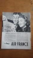 PUB ANCIENNE - PUB ADVERT AIR FRANCE Années 60 - Pubblicitari