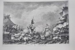 GRAVURE 761 / LE COMBAT DU VENGEUR D'après OZANNE Par YVES MARIE LE GOUAZ Né à BREST En 1742 - Estampas & Grabados