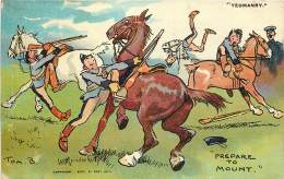 Illustrateur - Tom Browne - Prepare To Mount - Serie 2609 - Yeomanry - Künstlerkarten