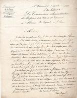 1842 - HOSPICES De St CHAMOND (42) - PLAN Et Bornage Du Domaine De L'arrailler - Documents Historiques