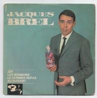 "LOT DE 3 X 45 Tours De JACQUES BREL "" LES BONBONS, AMSTERDAM, JEFF ........ - Vinyl Records"