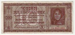Ukraine 10 Karbowanez 1942   Zehn Karbowanez Ttb - Ukraine