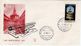 ITALY - 1967 The 300th Anniversary Of The Death Of Borromini   FDC4201 - 6. 1946-.. Republic