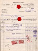 1928 Manufacture De Treillis & Toiles Métalliques PLOMBIERES PAQUOT - Belgique