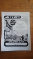 PUB ANCIENNE - PUB ADVERT AIR FRANCE PARIS TOKIO Années 60 - Pubblicitari