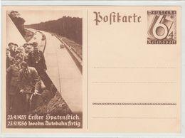 Propaganda Karte, 1000 Km. Autobahn, A. Hitler Spatenstich - Guerra 1939-45