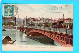Cpa  Cartes Postales Ancienne  - Lyon Pont Lafayette - Andere