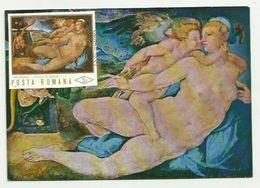 CARTE MAXIMUM - ROUMANIE - 1971 - BRONZINO , Vénus Et Amour (Tableaux) - Cartes-maximum (CM)
