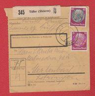 Allemagne  -- Colis Postal  -  Départ Tüffer  -- 4/3/1943 - Allemagne