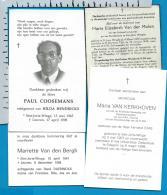 Bp    St. Joris - Winge    4 Stuks - Images Religieuses