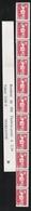 R 91  2.30f. ROUGE BRIAT  - Roulette De 11  Avec Sa BANDE De GARDE - Coil Stamps