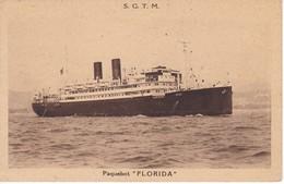POSTAL DEL BARCO PAQUEBOT FLORIDA (BARCO-SHIP) S.G.T.M. (MARSEILLE-MARSELLA) - Comercio