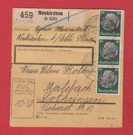 Allemagne  -- Colis Postal  -  Départ Neukirchen  -- 02/11/1942 - Allemagne