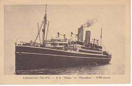 POSTAL DEL BARCO CANADIAN PACIFIC S.S. MELITA ET MINNEDOSA (BARCO-SHIP) L. DANIEL (LILLE) - Comercio