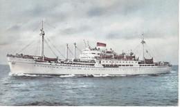 POSTAL DEL BARCO AMERIGO VESPUCCI (BARCO-SHIP) SOCIETA NAVEGACIONE GENOVA - Comercio