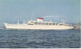 POSTAL DEL BARCO AUGUSTUS (BARCO-SHIP) SOCIETA NAVEGACIONE GENOVA - Comercio