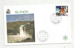 Premier Jour , FDC, ISLANDA , KEFLAVIK , FLUGSTOD, 4-6-1989 - FDC