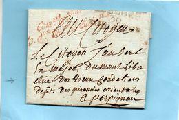 """""""Commissaire Ordonnateur/de La 10ème Division Miltaire/2ème Subdivision"""". - Marcophilie (Lettres)"""