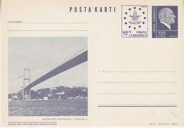 Turkey 1989 Istanbul 1989 Postcard Bosphorus Bridge Unused  (37830) - 1921-... Republiek