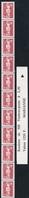 R 93 2.50f. ROUGE MARIANNE BRIAT - Roulette De 11 TP Dont 3 Avec N° + BANDE DE GARDE - Coil Stamps