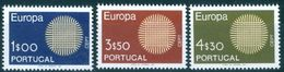 PORTUGAL #1060-2  - EUROPA  CEPT   3v -  1970 - Unused Stamps