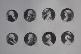 GRAVURES 791 à 798 / PORTRAITS DE ROBESPIERRE - DUMOURIEZ - PETION - CARNOT Et 4 FEMMES Par GILLES LOUIS CHRETIEN - Estampas & Grabados