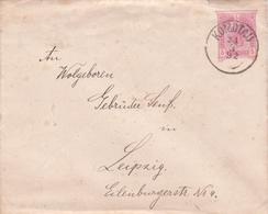 Entier Postal Enveloppe Autriche - 1892 - Cachet Komotau - Entiers Postaux