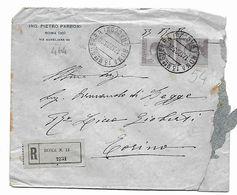 EDB464  - REGNO ,coppia Su Raccomandata ROMA13 Mro GUERRA 17/12/1923 . Poco Fresca - 1900-44 Vittorio Emanuele III