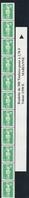 R 96 2.70f. VERT MARIANNE BRIAT - Roulette De 11 Avec BANDE De GARDE - Coil Stamps