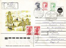 Ukraine. Lettre De 1993. Timbres Surchargés Poltava - Ucraina