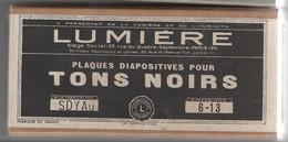 Boite Vide Pour Plaques Stéréoscopiques Diapositives Sur Verre, Tons Noirs LUMIERE - Supplies And Equipment
