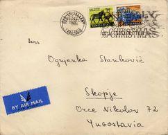 Tanzania Letter Via Macedonia.nice Stamp - Tanzania (1964-...)