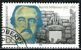 BRD - Michel 1480 - OO Gestempelt (A) - 60Pf     Heinrich Schliemann - [7] République Fédérale