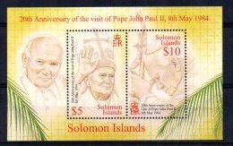 Solomon Islands - 2004 - 20th Anniversary Of Papal Visit Miniature Sheet - MNH - Salomon (Iles 1978-...)