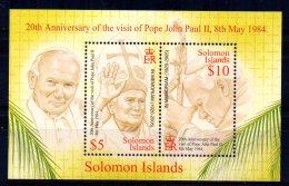Solomon Islands - 2005 - Pope John Paul II Commemoration Miniature Sheet - MNH - Salomon (Iles 1978-...)