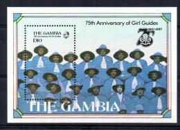 Gambia - 1985 - 75th Anniversary Girl Guide Movement Miniature Sheet - MNH - Gambie (1965-...)