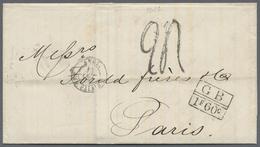"""Beleg 1871, 14.9. """"Buenos Aires"""" Doppelbogenstpl. Des Brit. PA Auf Schiffspostbrief Via London, Roter K1 Mit Taxstpl. """"G - Stamps"""