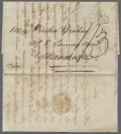 "Beleg 1821,Buenos Ayres,Kab. Transatlantic-Bf. M. Vs. Schiffslandestpl. Liverpool Ship Letter (Ra2) Und Hs. ""1 Sh 3 P"" T - Stamps"