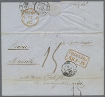 """Beleg 1856,29.4. Buenos Ayres (offener Engl. Kreisstpl.), Kab. Transatlantic-Bf. M. Royal Mail """" Camilla"""" Und """"Tamar"""" Ue - Stamps"""